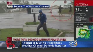 Weather Channel Responds To Claims Reporter Was Faking Coverage Of Hurricane Florence