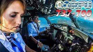 Captain Charlotte Pilots TUI BOEING 737 into CORFU