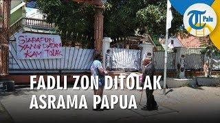 Fadli Zon Ditolak Mahasiswa Papua saat Datangi Asrama Mereka di Surabaya