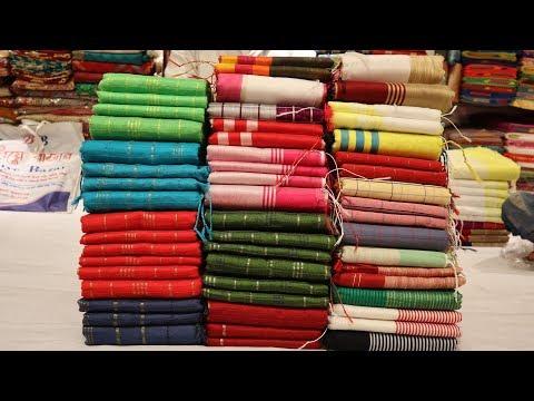 পাইকারি দামে জুম কাতান শাড়ি ও টাঙ্গাইলের তাঁতের শাড়ি কিনুন || new tangail cotton saree