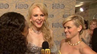 EXCLUSIVE Behind The Scenes With <b>Nicole Kidman </b>Sarah Paulson And More At Golden Globes Parties