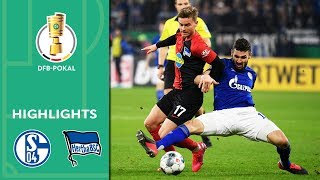 Enjoy the highlights of FC Schalke 04 vs. Hertha BSC from the Round of 16 of the DFB-Pokal 2019/20.  Goals: 0-1 Köpke (12'), 0-2 Piatek (39'), 1-2 Caligiuri (76'), 2-2 Harit (82'), 3-2 Raman (115')  Subscribe now for more action and hit the bell: https://zly.de/dfb/yt_sub. Watch all Highlights of the DFB-Pokal: https://go.dfb.de/dfb_cup_playlist