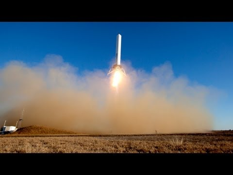 SpaceX's Grasshopper Rocket Takes Off And Lands Vertically And Can Also Hover