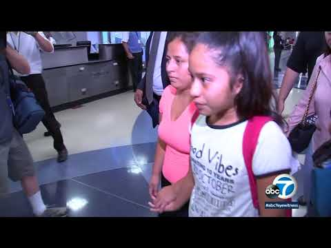 VIDEO: Mother, daughter reunited at LAX after being separated at border | ABC7
