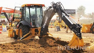 Learning to operate excavator - digging with Deere 310L ep backhoe loader