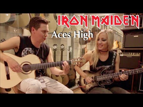 Aces High (Iron Maiden) - Thomas Zwijsen ft. Nita Strauss at #TGU18