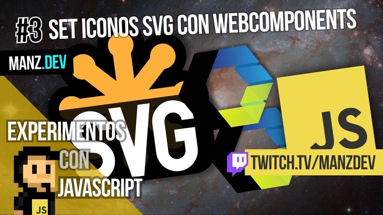 Set de iconos SVG con WebComponents