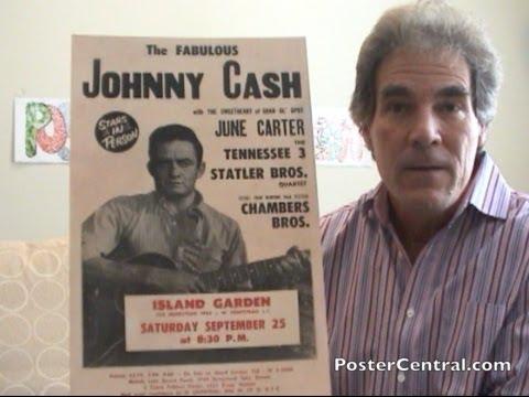 johnny cash concert posters 1960s window cards 5 different. Black Bedroom Furniture Sets. Home Design Ideas