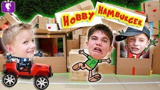 HobbyHamburger Box Fort Challenge! by HobbyKidsTV