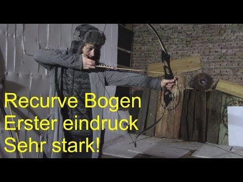 Recurve Bogen Hellbow 50 lbs Jagd Bogen Erster Eindruck (Test)