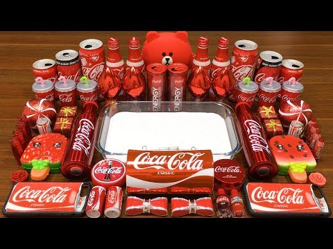 Series RED COCA COLA Slime | Mixing Random Things into GLOSSY Slime | Satisfying Slime Videos #635