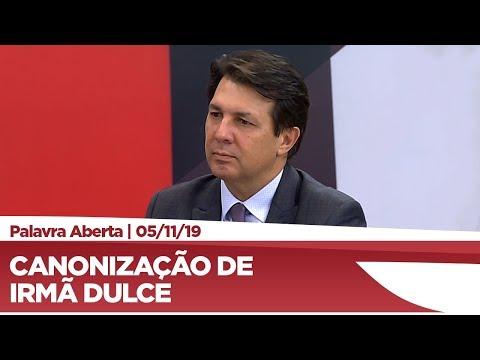 Arthur Oliveira Maia comenta sobre a canonização da Irmã Dulce