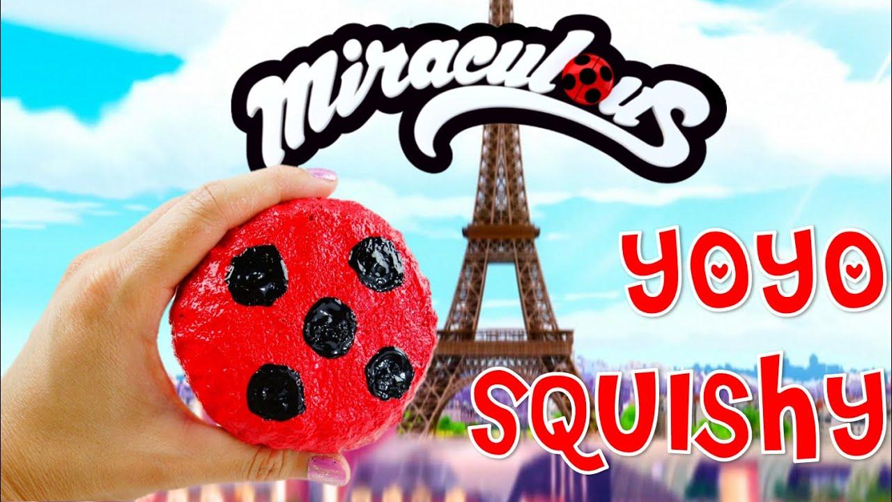 DIY Miraculous: Easy DIY Squishy - How to make a Miraculous Ladybug Yoyo SQUISHY Tutorial