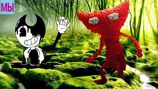 Красный вязаный БЕНДИ - УТОНУЛ В БОЛОТЕ добрая и красивая игра для детей ИГРОВОЙ МУЛЬТИК UNRAVEL #3