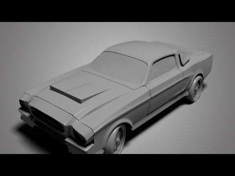 Modeling Gt 500 3ds max beginner tutorial part – 1