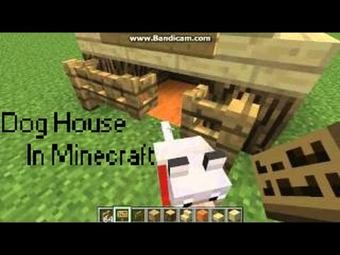 Minecraft Build - Minecraft Dog House / Tnt Cannon