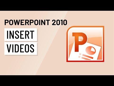 PowerPoint 2010: Inserting Videos
