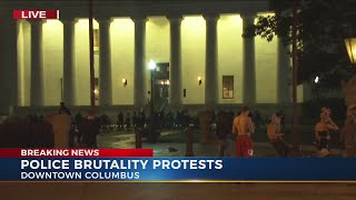 Columbus Protest Update 12:00 A.m. Cut In