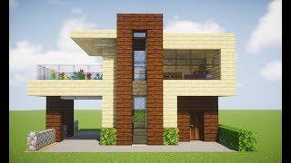 Minecraft Tutorial - Casa Moderna Pequena De Madeira