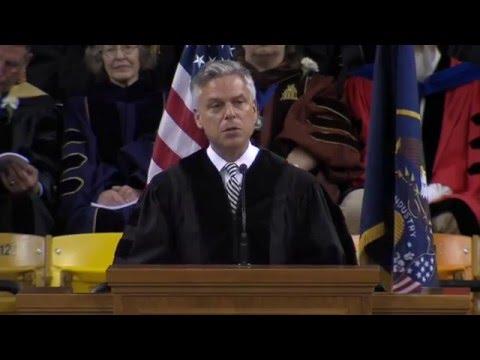 2016 Undergraduate Commencement: Jon M. Huntsman Jr.