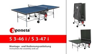 Sponeta S 3-46 i / S 3-47 i - Montageanleitung Tischtennistisch / Instructions for assembly and use