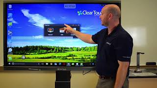 Clear Touch Interactive Panel / Touch Screen Display Demo