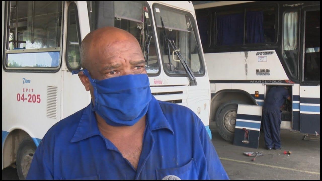 Transportistas de Granma recuperan y reparan ómnibus durante situación epidemiológica