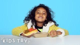 Kids Try Japanese Street Food | Kids Try | HiHo Kids