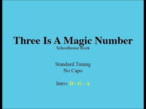 Three Is A Magic Number - Easy Guitar (Chords and Lyrics)