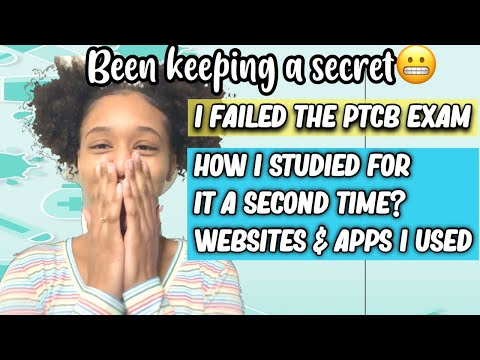 I FAILED MY PTCB EXAM?! HOW TO STUDY 2ND TIME ... - YouTube