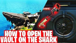 HOW TO OPEN THE VAULT ON THE SHARK -  Sky Key Card | Fortnite Chapter 2 Season 2