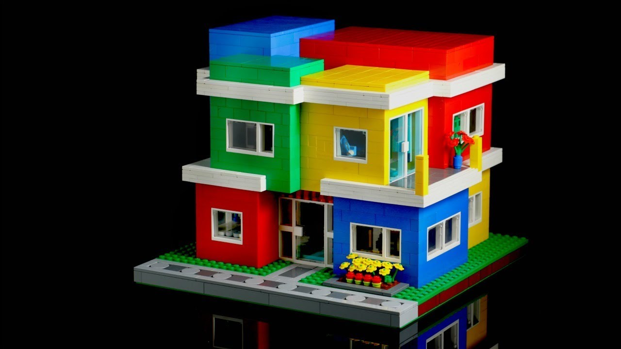 GIANT Custom LEGO Modern Colorblock House⎜A LEGO MOC