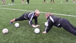 The LGFA Goalkeeper   Group Warm Up