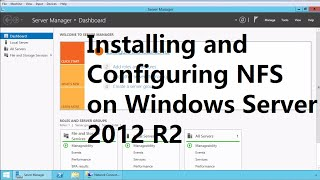 25. Installing and Configuring NFS on Windows Server 2012 R2