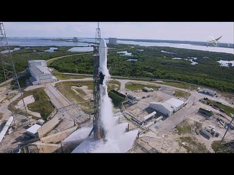 العرب اليوم - شاهد: عملية انطلاق ناجحة لمركبة الشحن الفضائية