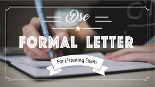2016 HKDSE ENG 5** J-Leung | 教你輕鬆掌握formal Letter寫法