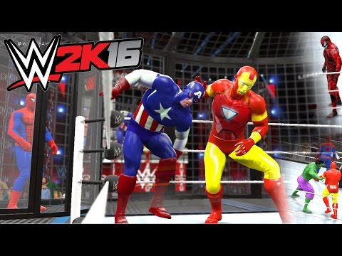 Download WWE 2K16 - Spiderman VS Carnage VS Hulk VS Captain America VS Iron Man VS Thor HD Mp4 3GP Video and MP3