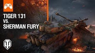 World of Tanks Console - Tiger 131 vs Sherman Fury