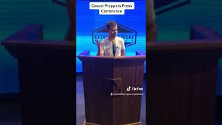 Casual Preppers Press Conference Highlights