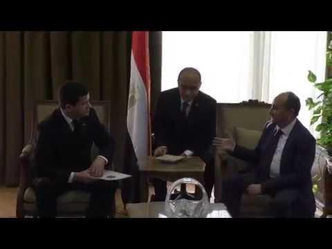 لقاء المهندس/عمرو نصار وزير التجارة والصناعة مع نظيره التركمانستانى