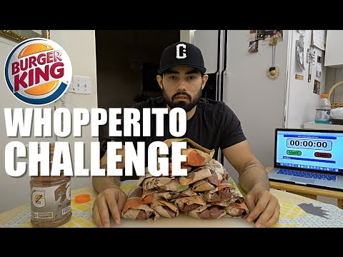 Download BURGER KING WHOPPERITO CHALLENGE | 7,650 CALORIES HD Mp4 3GP Video and MP3