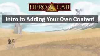 Gen Con 2015 Seminar - Hero Lab Intro to Adding Content