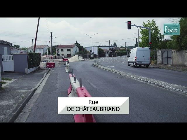 Travaux de la rue de Châteaubriand - 25 juin 2019