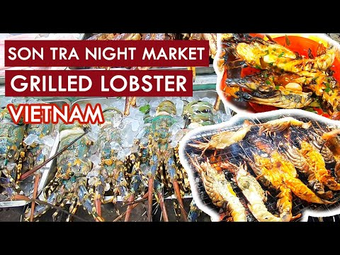 Spicy Grilled LOBSTER in VIETNAM! Street Food Night Market!