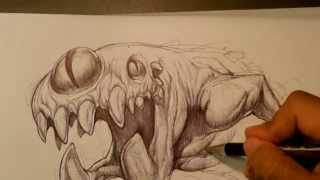Speed Drawing - Random Monster (no Sound)