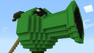 Minecraft vs Zombies | MEGA PEASHOOTER!! (Spider invasion!!) | PvZ  Land