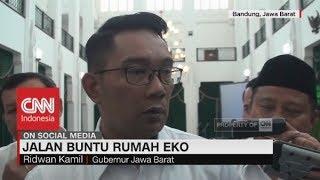 Ridwan Kamil Angkat Bicara Soal Rumah Pak Eko Terkurung Tembok Tetangga