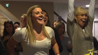 Check out Tori Jankoska's reaction to being drafted by the Chicago Sky