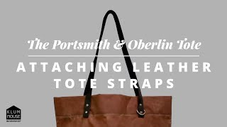 Attaching Leather Tote Straps