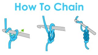 How To Slip Knot And Chain - Crochet Lesson 1